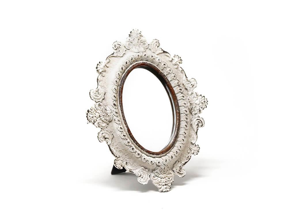 Espejo vintage deco 7 blanco