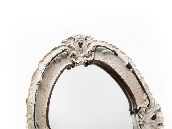 Espejo vintage deco 8 blanco detalle