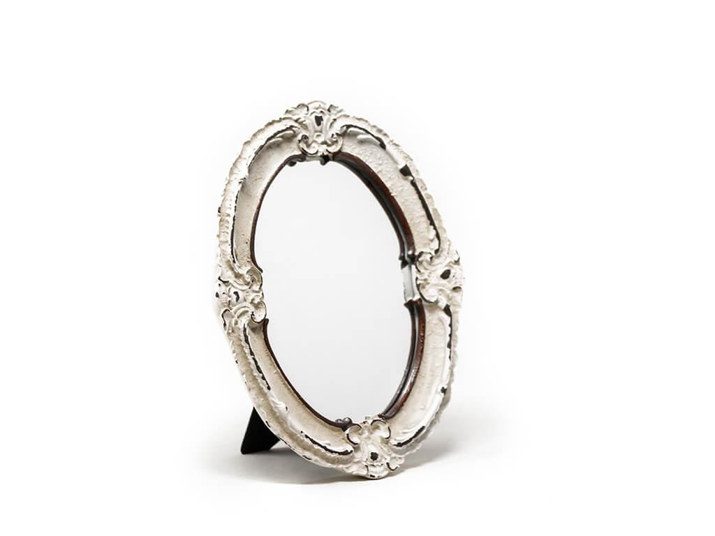 Espejo vintage deco 8 blanco