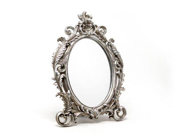 Espejo vintage deco 8 plateado