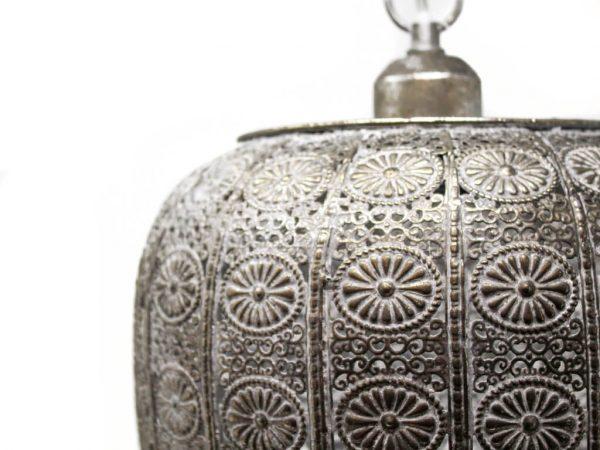Lampara colgante marruecos 133 plata detalle