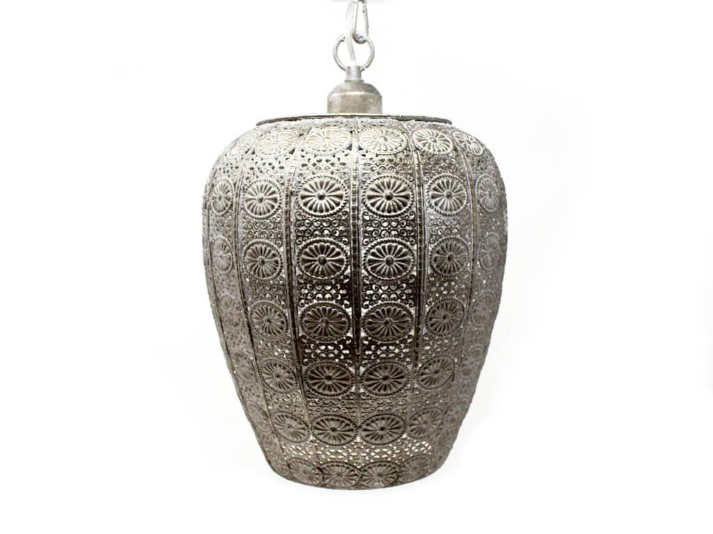 Lampara colgante marruecos 133 plata