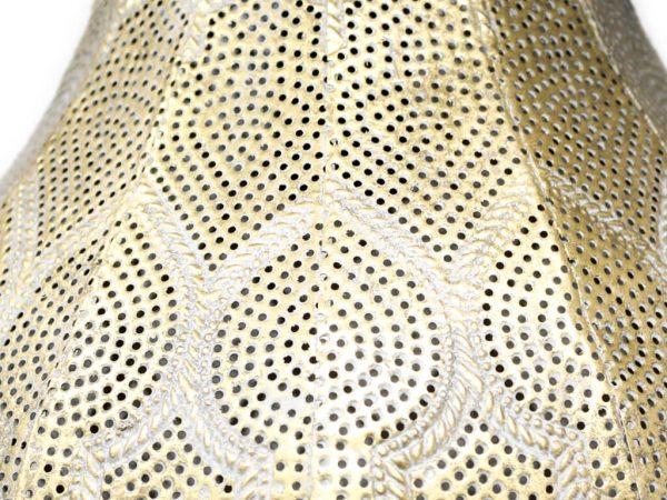 Lampara colgante marruecos 35 oro detalle