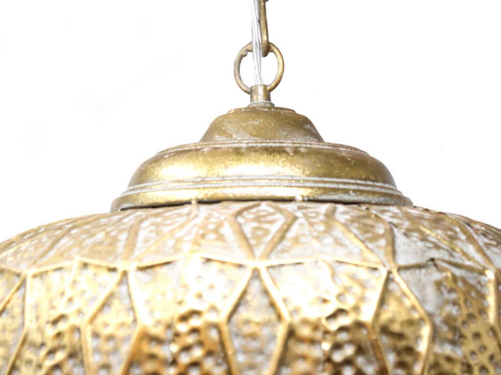 Lampara colgante marruecos 37 oro detalle