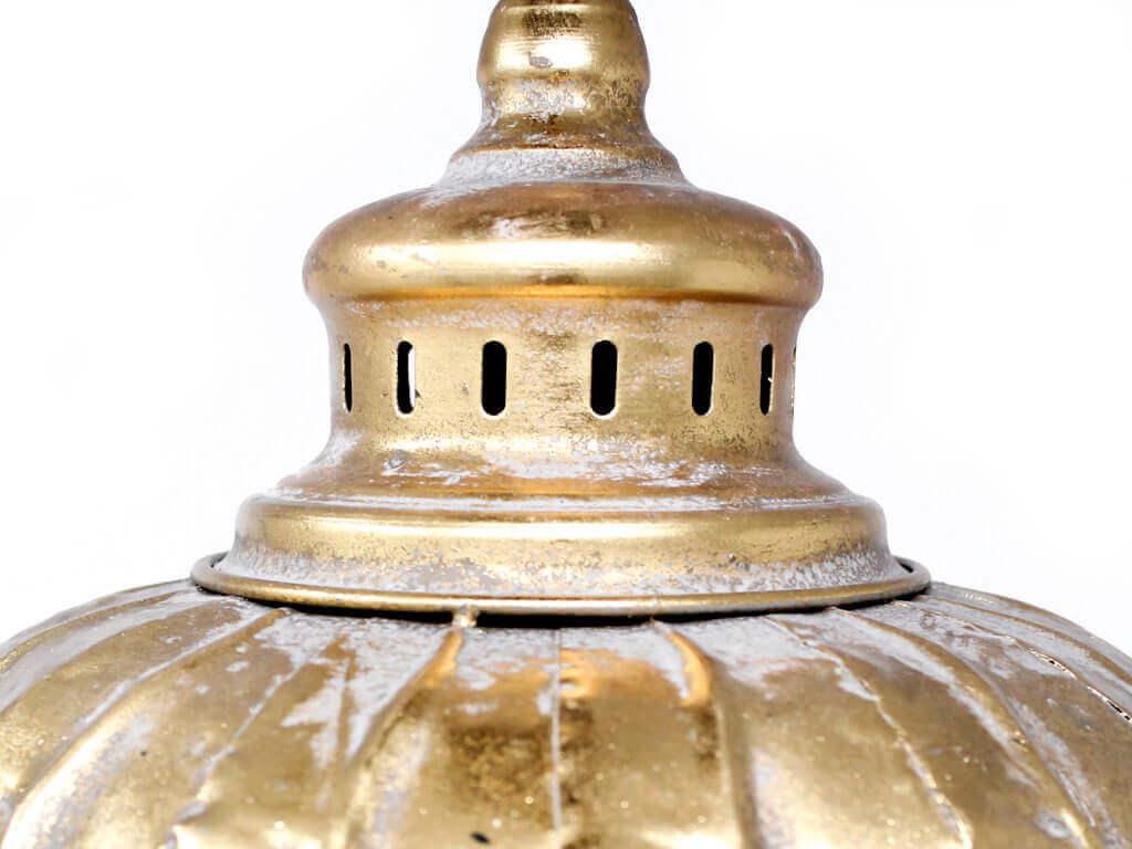 Lampara colgante marruecos 38 oro detalle