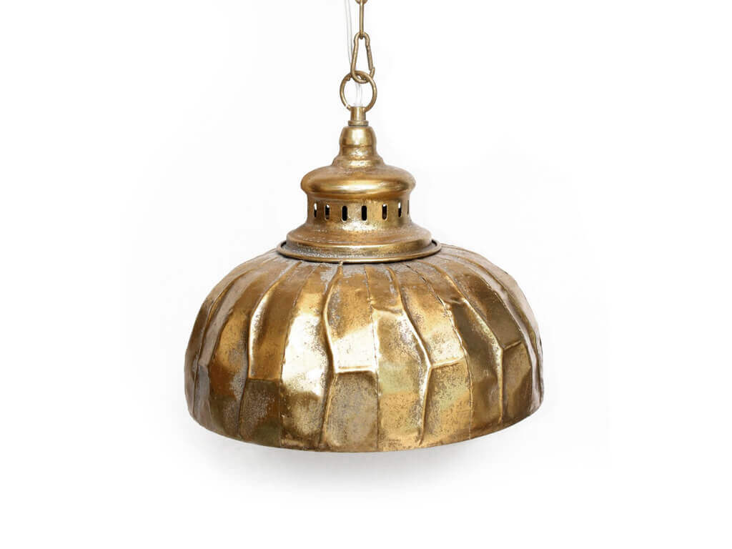 Lampara colgante marruecos 38 oro