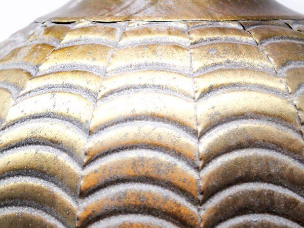 Lampara colgante marruecos 39 oro detalle