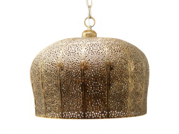 Lampara colgante marruecos 40 oro