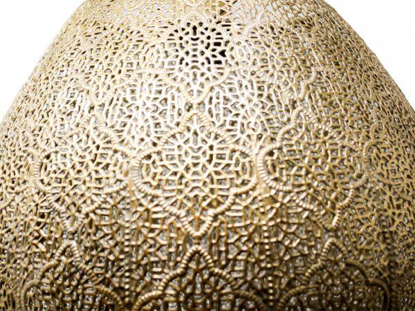 Lampara colgante marruecos 42 oro detalle