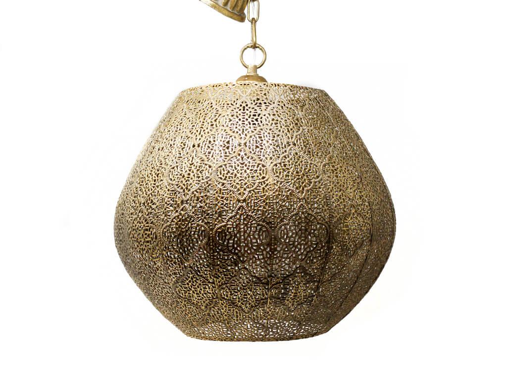 Lampara colgante marruecos 42 oro