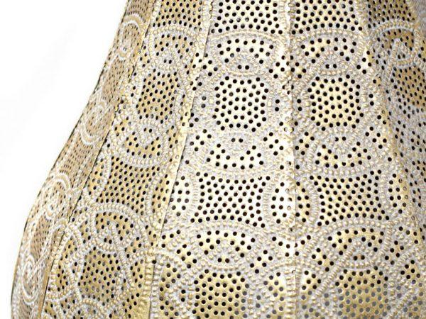 Lampara de mesa marruecos 54 oro detalle