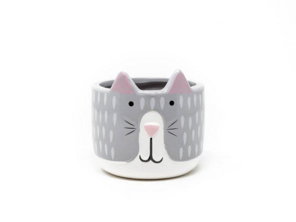 Maceta animal 14 gato gris