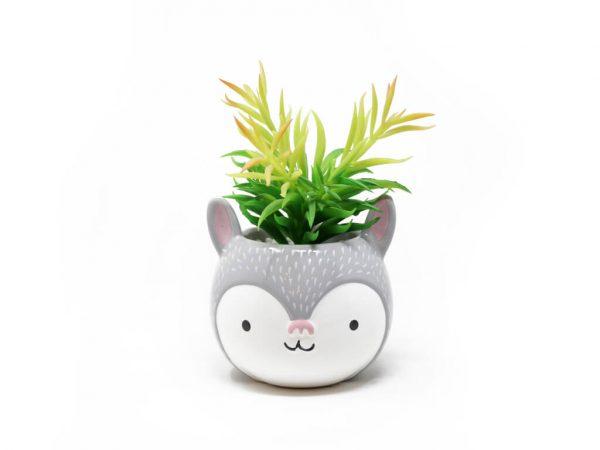 Planta animal 7 conejo gde gris