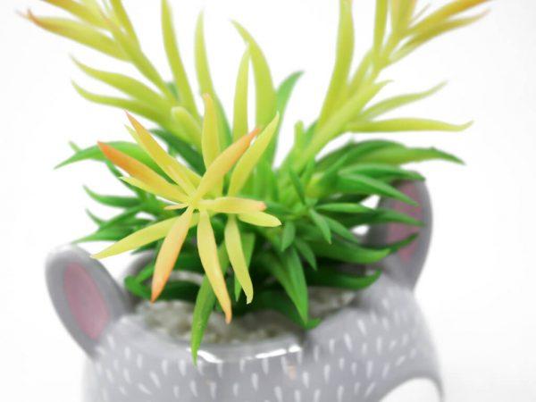 Planta animal 7 conejo gde gris detalle