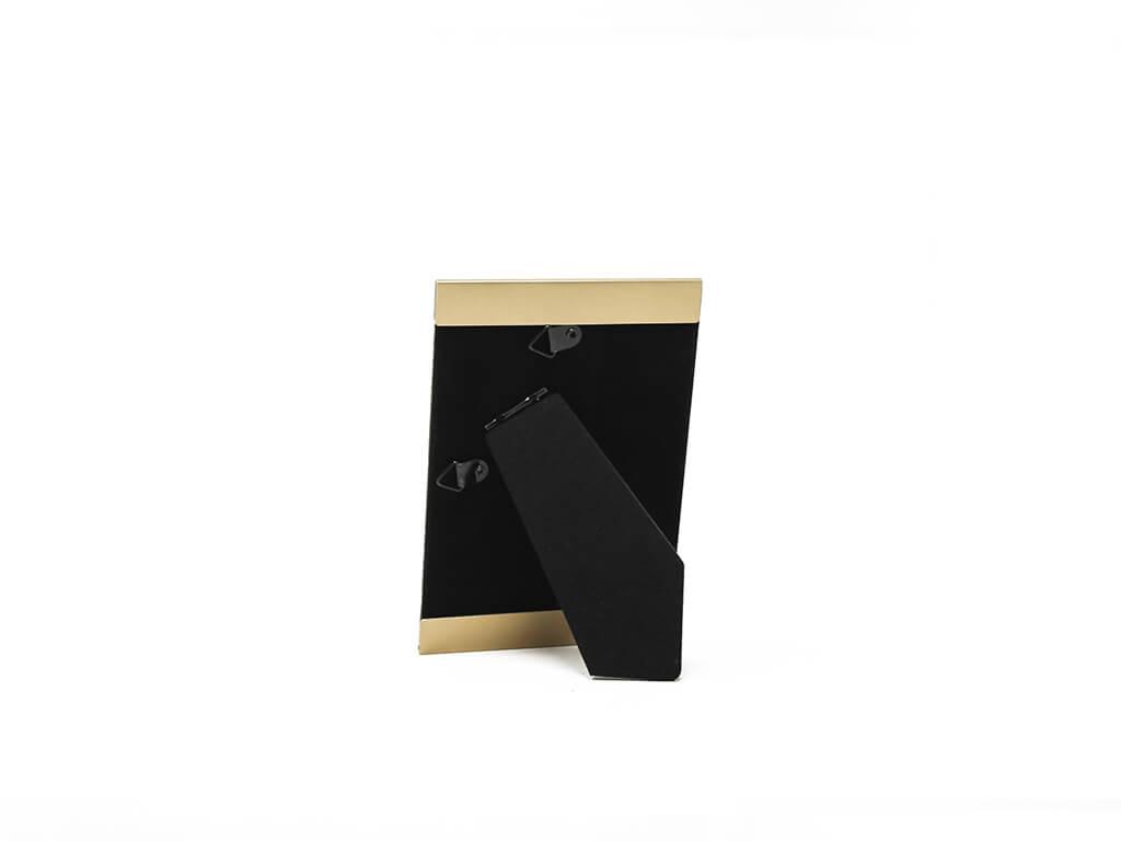 Portarretrato de aluminio 10x15 dorado reverso