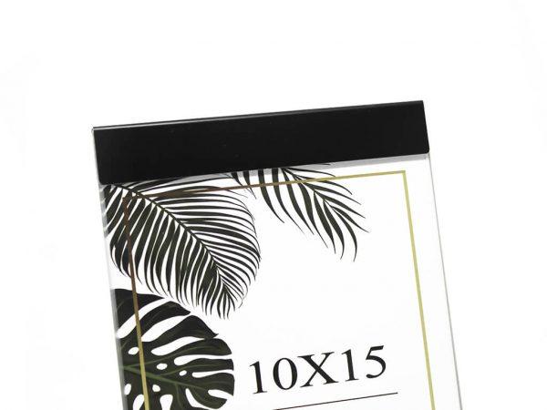 Portarretrato de aluminio 10x15 negro detalle