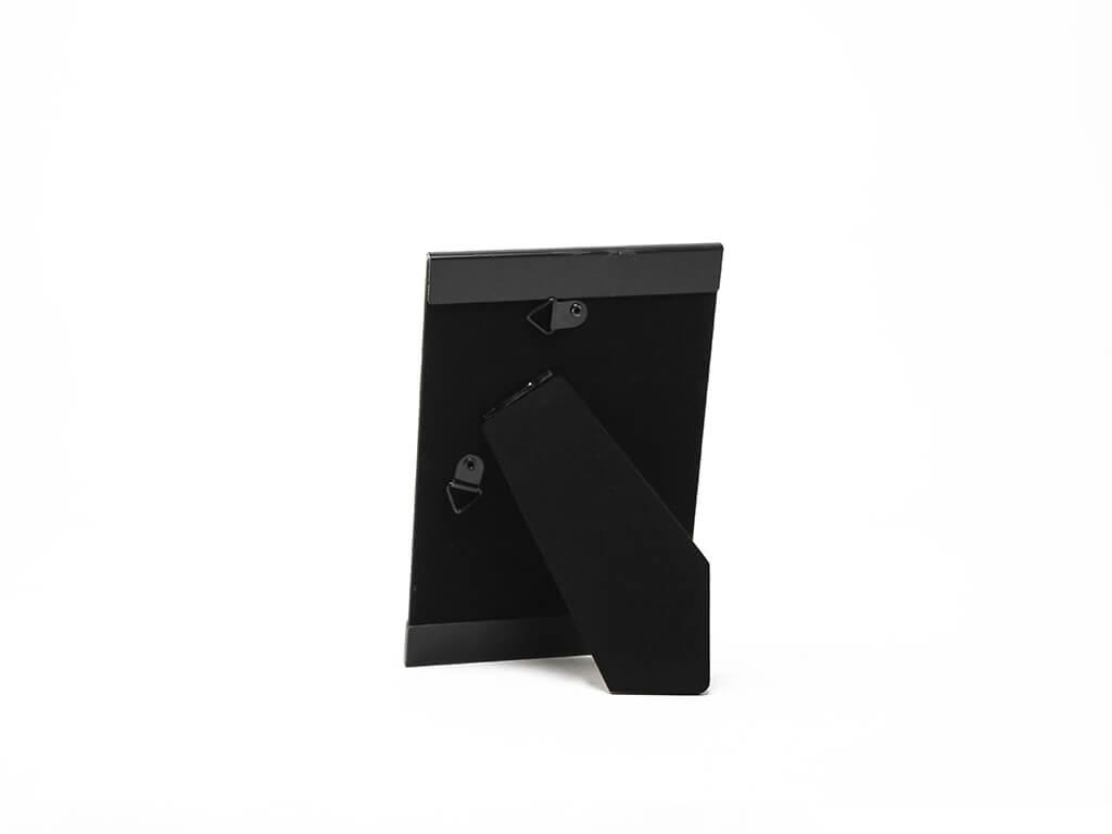 Portarretrato de aluminio 10x15 negro reverso