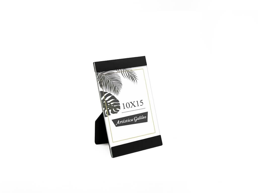 Portarretrato de aluminio 10x15 negro