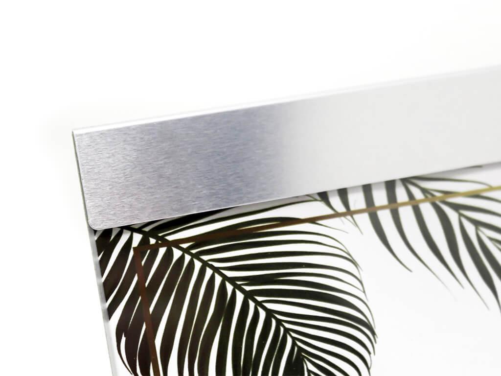 Portarretrato de aluminio 10x15 plateado detalle
