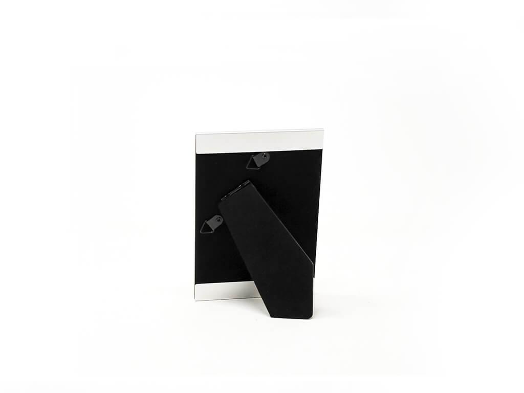 Portarretrato de aluminio 10x15 plateado reverso