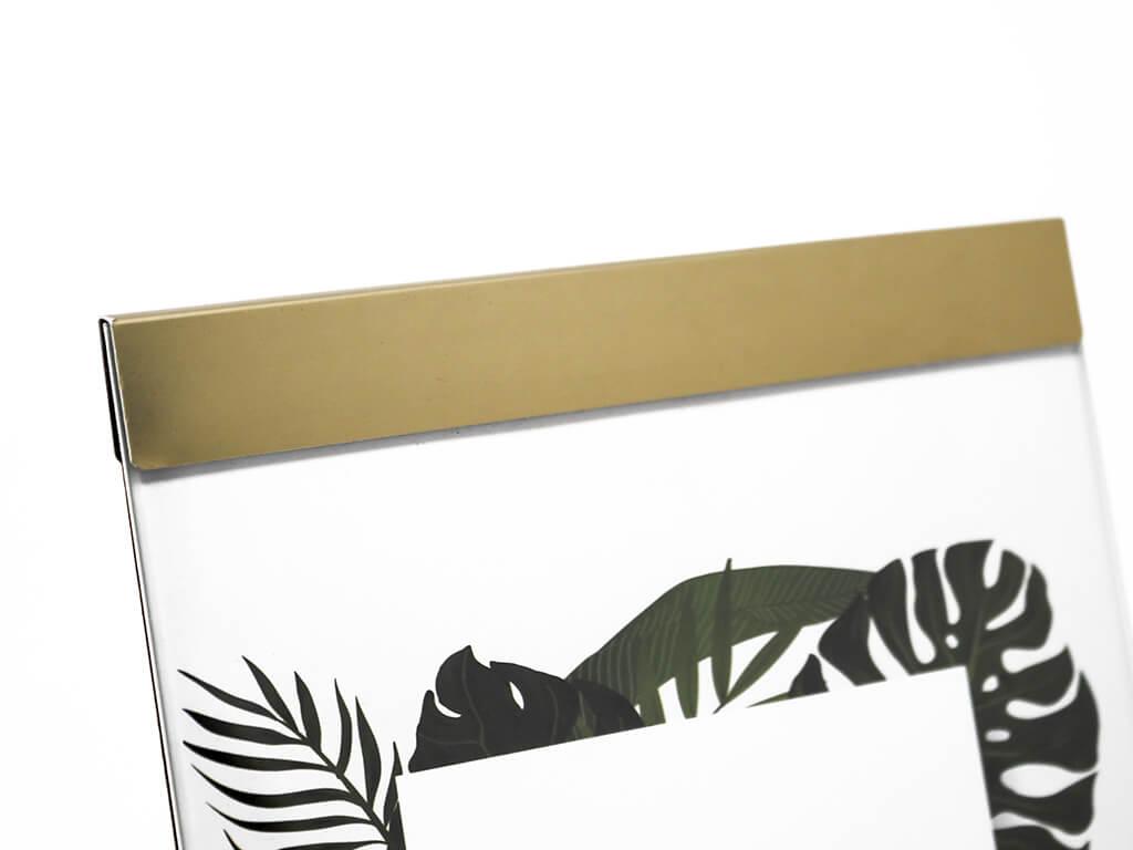 Portarretrato de aluminio 13x18 dorado detalle