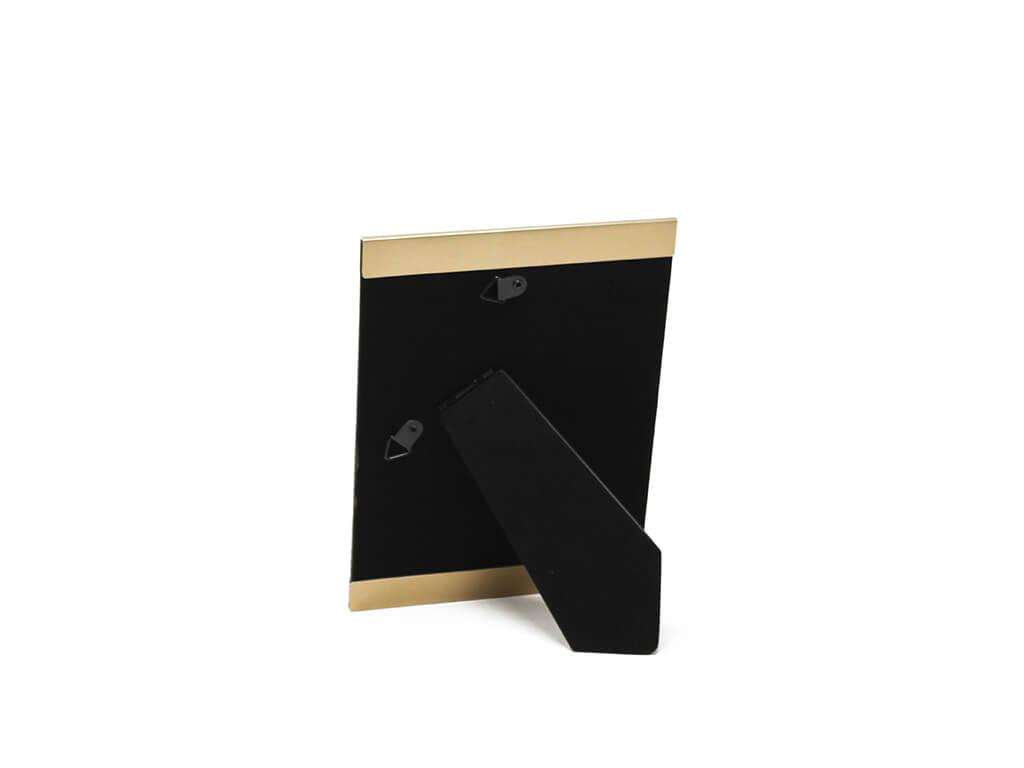 Portarretrato de aluminio 13x18 dorado reverso
