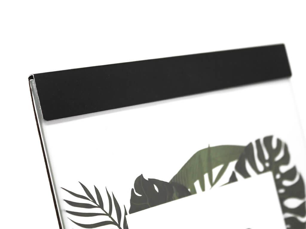 Portarretrato de aluminio 13x18 negro detalle
