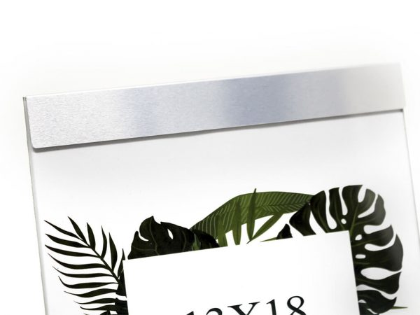Portarretrato de aluminio 13x18 plateado detalle