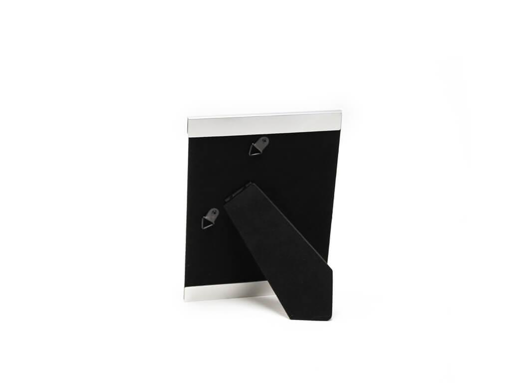 Portarretrato de aluminio 13x18 plateado reverso