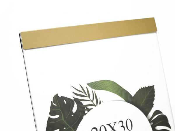 Portarretrato de aluminio 20x30 dorado detalle