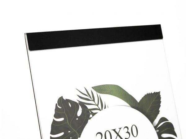 Portarretrato de aluminio 20x30 negro detalle