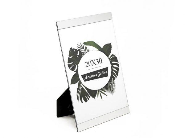 Portarretrato de aluminio 20x30 plateado