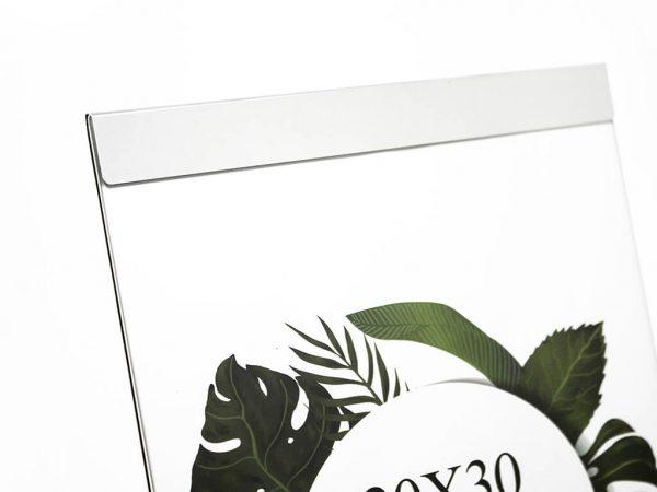 Portarretrato de aluminio 20x30 plateado detalle