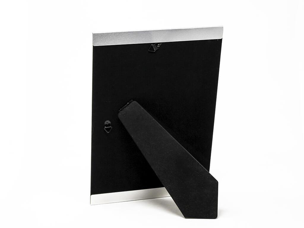 Portarretrato de aluminio 20x30 plateado reverso