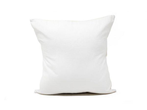 Funda 40×40 lisa blanca