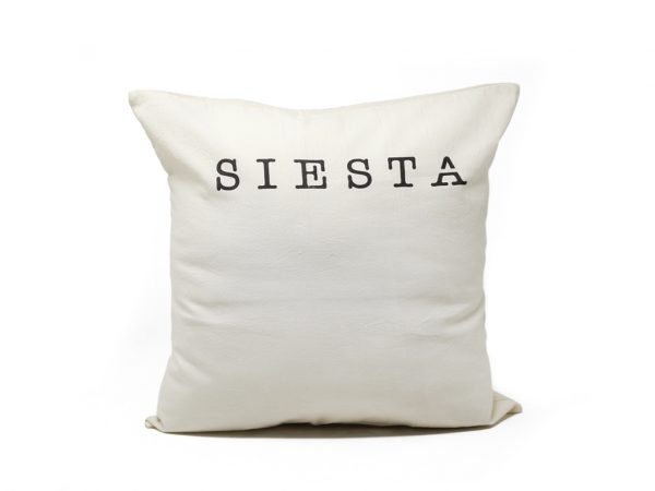 Funda 40×40 siesta natural y negro