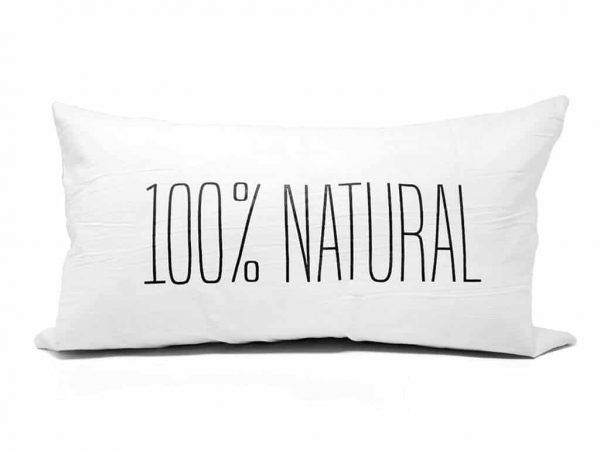 Funda 60×35 100% natural blanco y negro