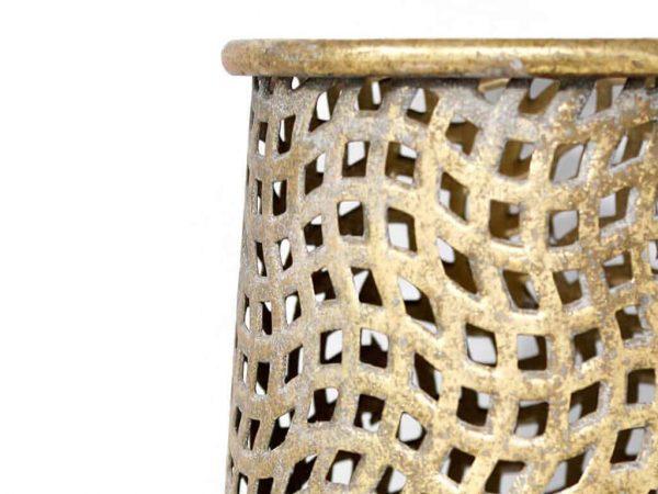 Lampara de mesa marruecos 52 oro detalle