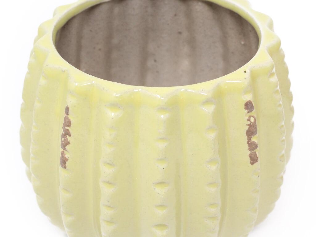 Maceta color amarilla 13cm MQ605 detalle