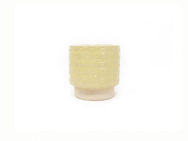 Maceta color amarilla 8cm MQ125
