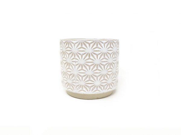 Maceta color blanca 10cm MQ310