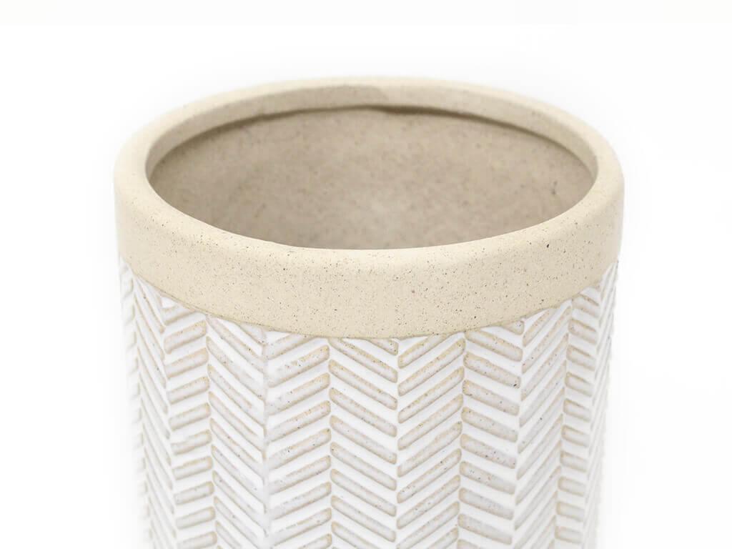 Maceta color blanca 11cm MQ520 detalle