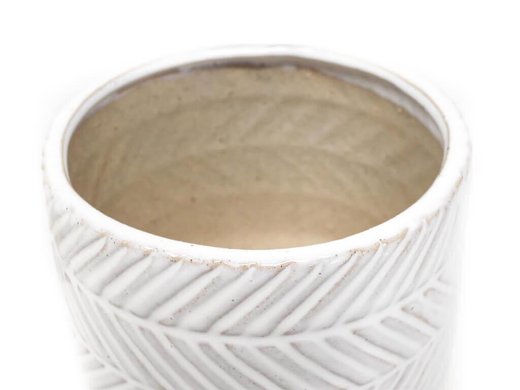 Maceta color blanca 11cm MQ530 detalle