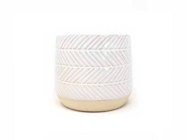 Maceta color blanca 11cm MQ530.