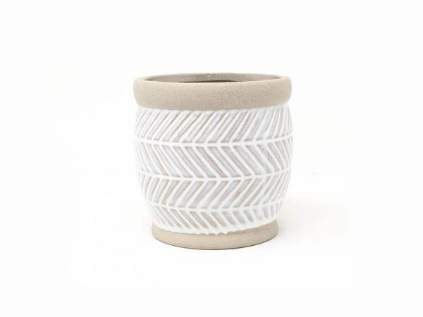 Maceta color blanca 11cm MQ540