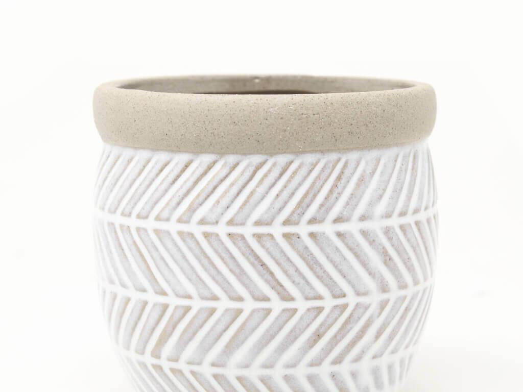 Maceta color blanca 11cm MQ540 detalle