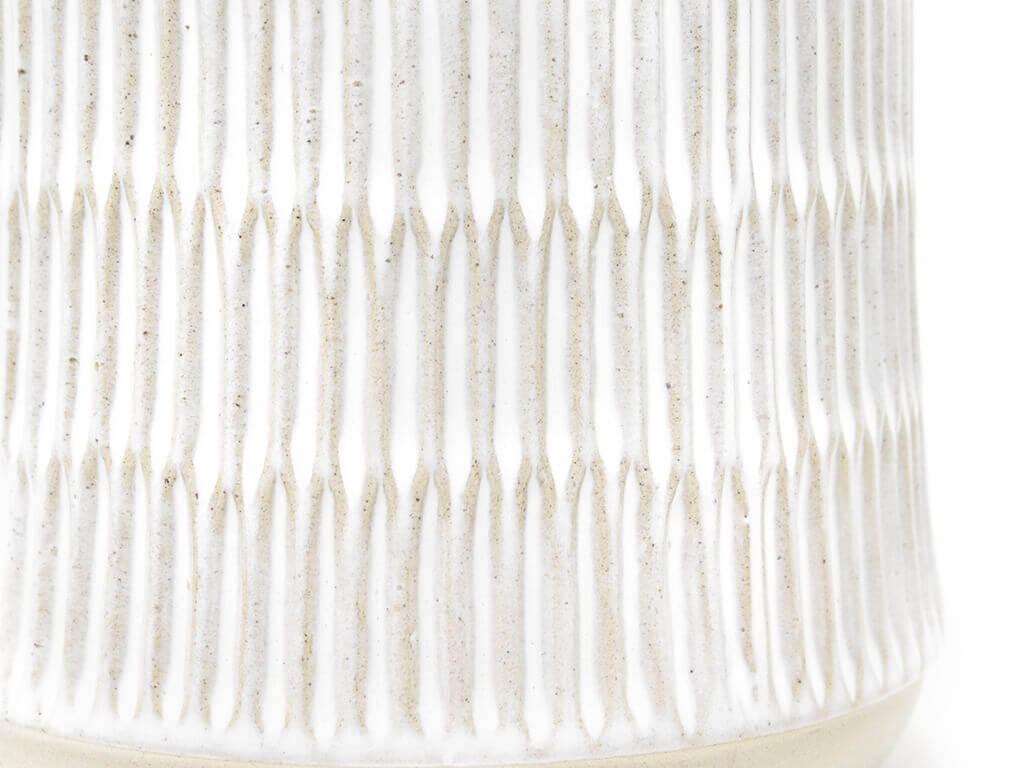 Maceta color blanca 14cm MQ700 detalle