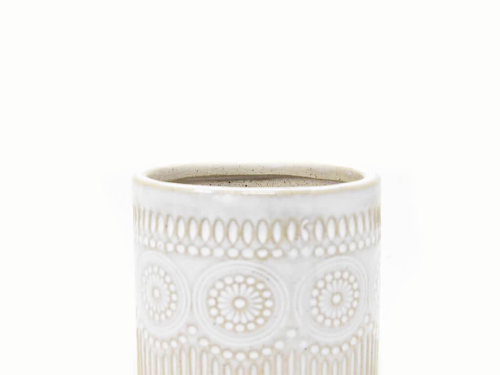 Maceta color blanca 8cm MQ170 detalle