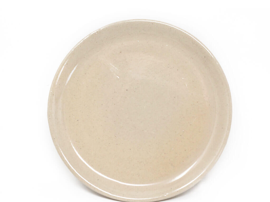 Maceta color con plato 11cm detalle