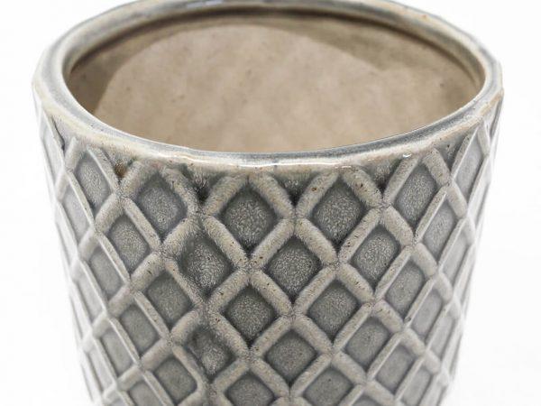 Maceta color gris 10cm MQ304 detalle